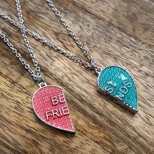 Justice Best Friends Magnetic Necklace Pink Blue
